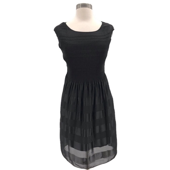Max Studio Dresses & Skirts - Max Studio Black Smocked Top Dress